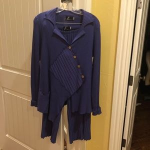 Purple Knit Pant Suit